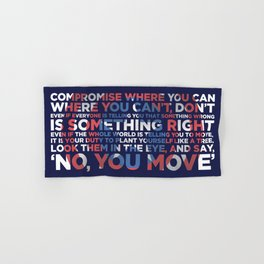 Civil War Quote Hand & Bath Towel