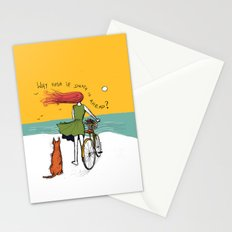 why rush if death is ahead? Stationery Cards