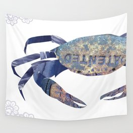 Manhole Crab with Lace Wall Tapestry