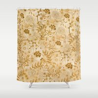 floral pattern Shower Curtains featuring Floral pattern by nicky2342