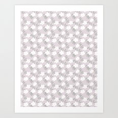 white flowers and flowers Art Print