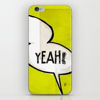 comic book iPhone & iPod Skins featuring Comic Book: Yeah! by Ed Pires