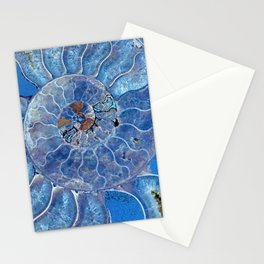 Blue seashell -mother-of-pearl - Beautiful backdrop Stationery Cards