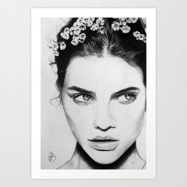 Barbara Palvin Portrait Art Print