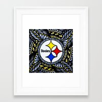 steelers Framed Art Prints featuring New Tribal Steelers by Lonica Photography & Poly Designs
