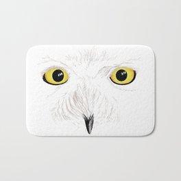 Peer into the Light – Snowy Owl Bath Mat