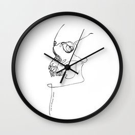 SKULL // Adapt, change or die Wall Clock