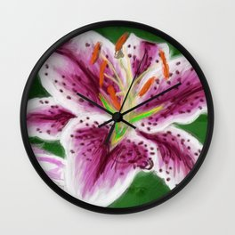 Lovely Lily Wall Clock