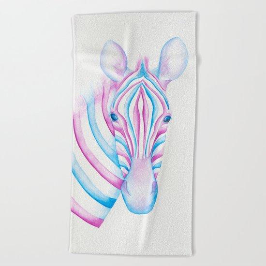 Watercolour Zebra Beach Towel