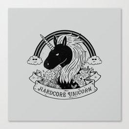 Hardcore Unicorn Canvas Print
