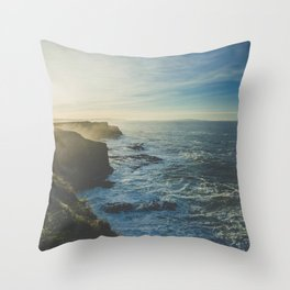 I Will Come Back But First... // Landscape // Edge of Cliff Photography #society6 #art #prints Throw Pillow