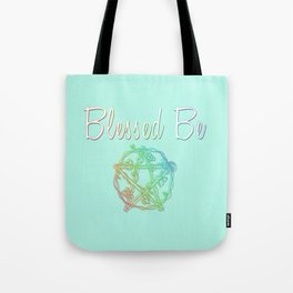 Blessed be with pentacle Tote Bag