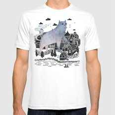 The Fog MEDIUM White Mens Fitted Tee