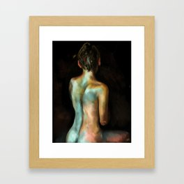 The Painted Woman Framed Art Print