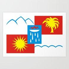 Sochi flag - Authentic version Art Print