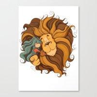 lion Canvas Prints featuring Lion by Tatiana Obukhovich