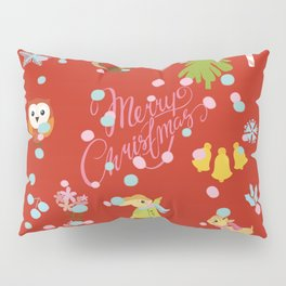 marry christmas pattern red Pillow Sham
