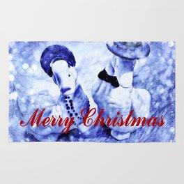 A Blue Christmas Rug
