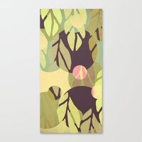 jungle Canvas Prints featuring Jungle by VessDSign