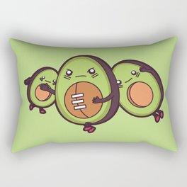 Avocado Football Rectangular Pillow