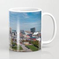 baltimore Mugs featuring Baltimore Skyline by Josh Lohmeyer