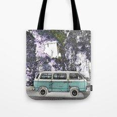 Vintage van. Green Tote Bag