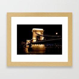 Széchenyi Chain Bridge, Budapest, Hungary Framed Art Print