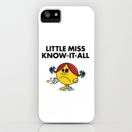 Know-It-All iPhone Case