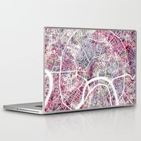 moscow Laptop & iPad Skins featuring Moscow by MapMapMaps.Watercolors