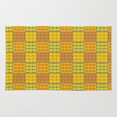 Hob Nob Orange Quarters Rug