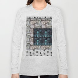 textures for the interior grey blue color Long Sleeve T-shirt