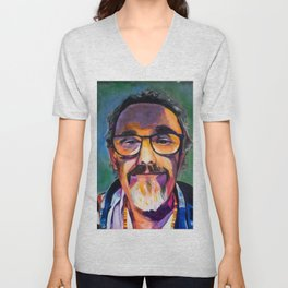 Portrait of the Artist Smirking Unisex V-Neck