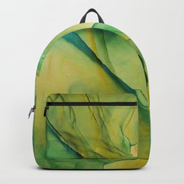 Acid Green Ethereal Ink Painting Backpack