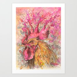 """Comb-Over Flow"" Art Print"