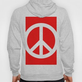 Peace (White & Red) Hoody