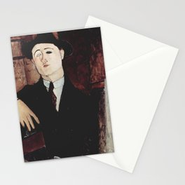 Paul Guillaume by Amedeo Modigliani Stationery Cards
