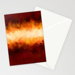 Red Burgundy & Fire Abstract Stationery Cards
