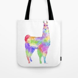 Jolly Llama Watercolor Tote Bag