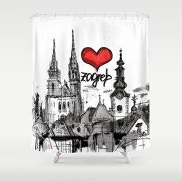I love Zagreb Shower Curtain