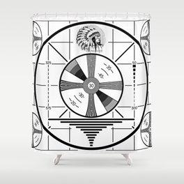 Indian-Head Test Pattern Shower Curtain