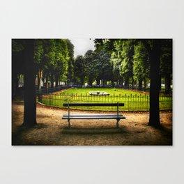 Fountain Park Paris Canvas Print