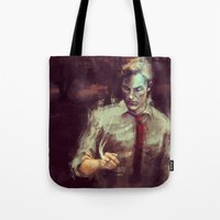 true detective Tote Bags featuring True Detective by nlmda