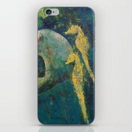 Yellow Seahorses iPhone Skin