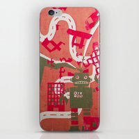 robot iPhone & iPod Skins featuring Robot by Jan Luzar