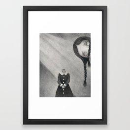 Wednesday's Doll Framed Art Print