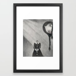Wednesday's Doll Framed Art Print