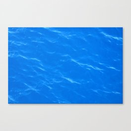 Colors of the Sea Water - Sky Blue Canvas Print