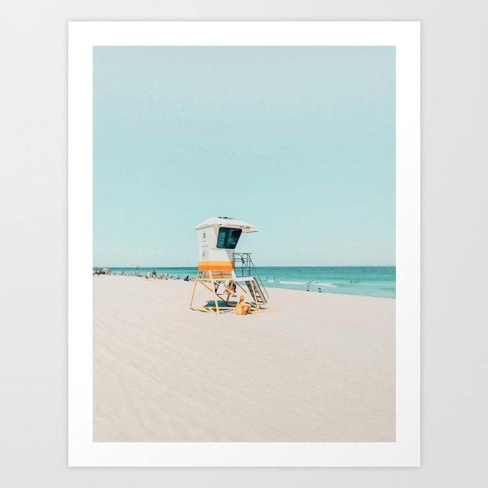 Aussie lifeguard Art Print