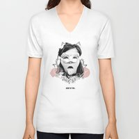 bjork V-neck T-shirts featuring Bjork  by Anfetamina