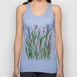Lavender Watercolor No. 1 Unisex Tank Top